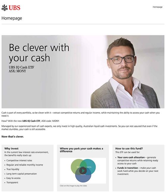 UBS – Website Homepage