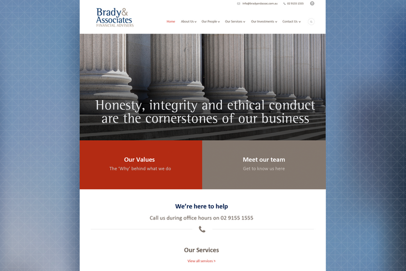 Brady & Associates – Web Page