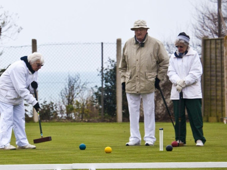 Croquet up and running under chilly Sidmouth skies