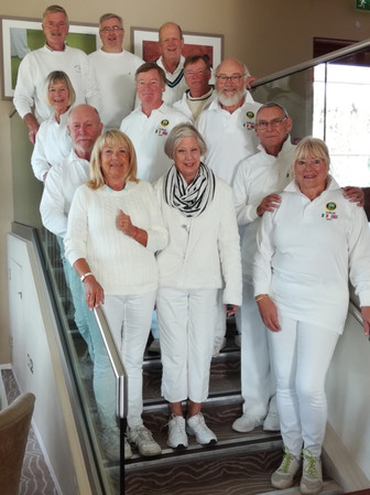 Sidmouth Croquet Club's tour party to Du