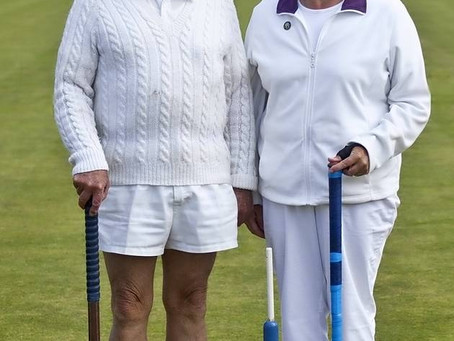 Talented croquet players at Sidmouth