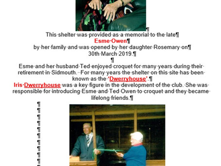 The Dwerryhouse 30 March 2019