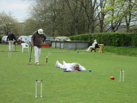 Sidmouth Croquet Players In Early Season Action At Nailsea Tournament