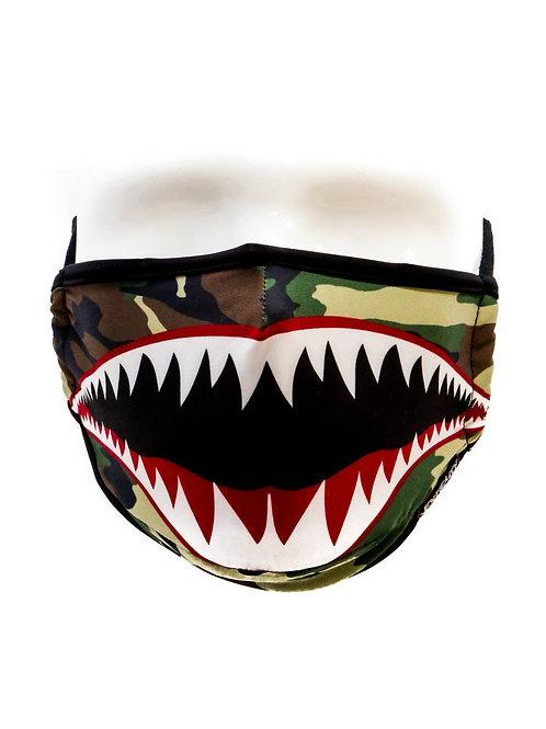 Camo Shark Moisture Wicking Face Mask