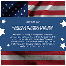 DAUGHTERS OF THE AMERICAN REVOLUTION Con