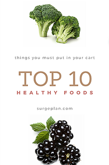 Top 10 Healthy Foods (inside the Surge Plan)