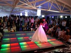 Pista de dança Led em casamento