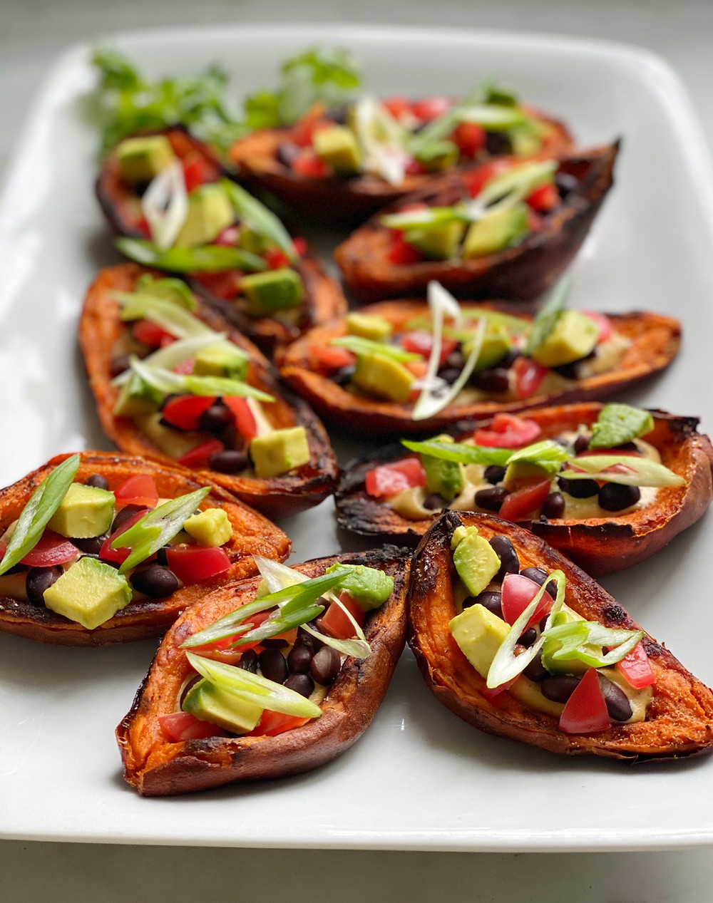 Plant-Based Sweet Potato Skins