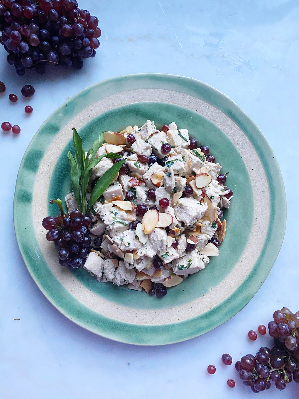 Tarragon Chicken Salad with Almonds & Champagne Grapes
