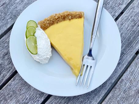 Key Lime Pie with Cashew Graham Cracker Crust