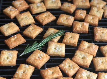 Grown-up Cheeze-its with Gruyere & Rosemary