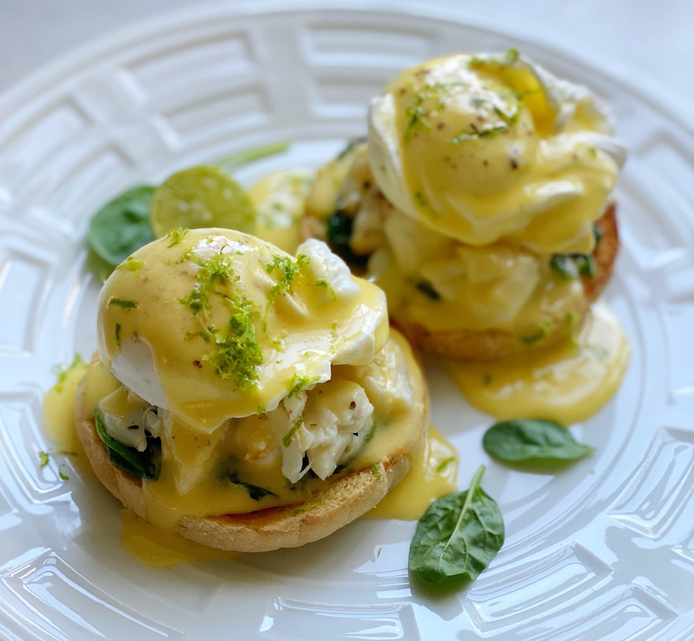 Eggs Benedict with Crab & Key Lime Hollandaise