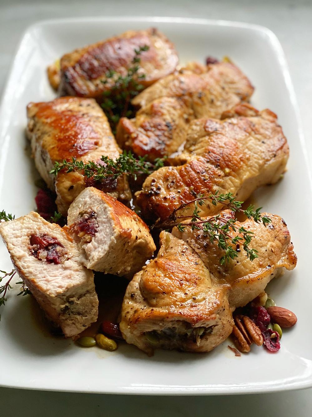 Apple-Almond-Brie Stuffed Chicken Breasts