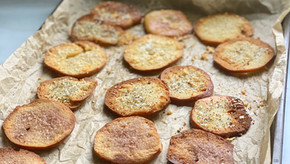 Bagel Chips Three Ways: Everything, Parmesan, & Cinnamon-Sugar