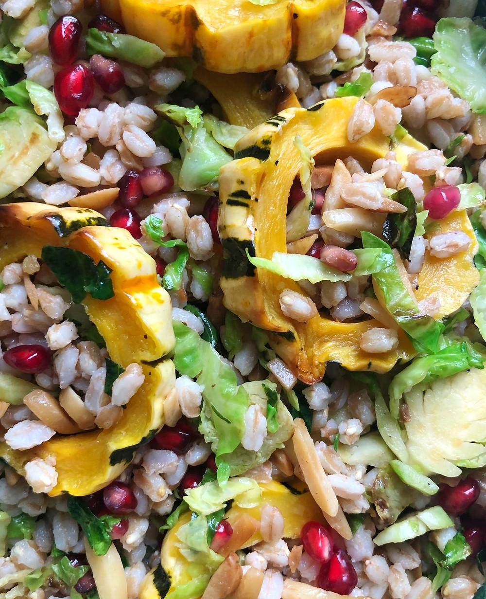 Warm Farro Salad