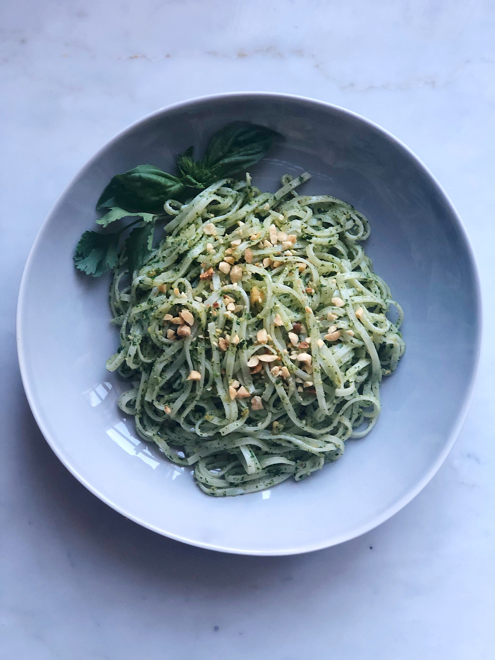 Asian Pesto Rice Noodles