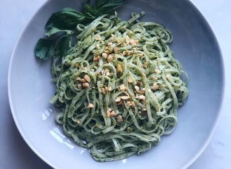 Asian Pesto Rice Noodles