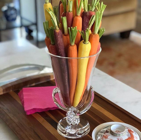 Rainbow Carrot Bouquet