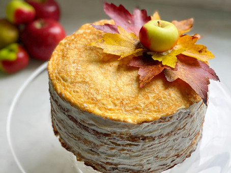 Maple-Apple Crêpe Cake