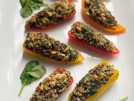 Chicken & Quinoa-Stuffed Baby Bell Peppers