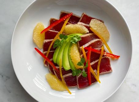 Tuna Ceviche with Grapefruit & Tamarind