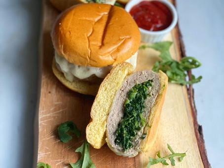 Spinach-Stuffed Turkey Burgers