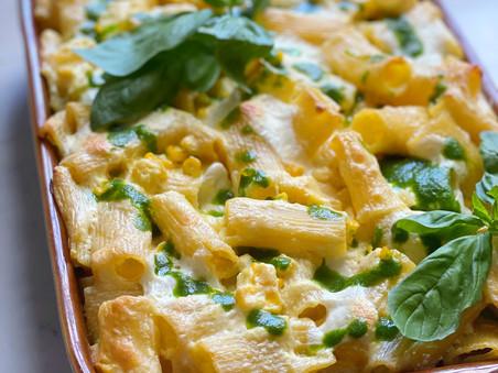 Creamy Corn Pasta Bake