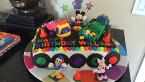 Birthday Cake with Buttercream Frosting