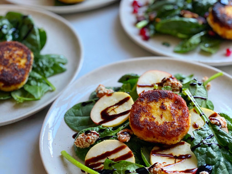 Fried Goat Cheese Coins
