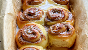 Cookie Butter Challah Rolls with Coffee Glaze