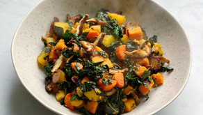 Roasted Root Vegetable Hash with Lacinato Kale