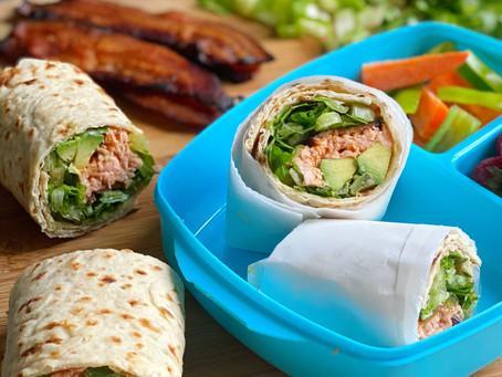 BBQ Salmon, Lettuce, Avocado & Bacon Wrap
