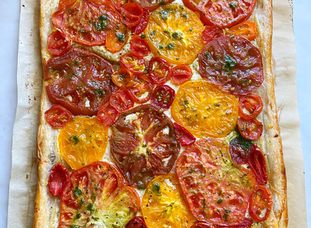 Roasted Tomato Tart with Ramp Butter