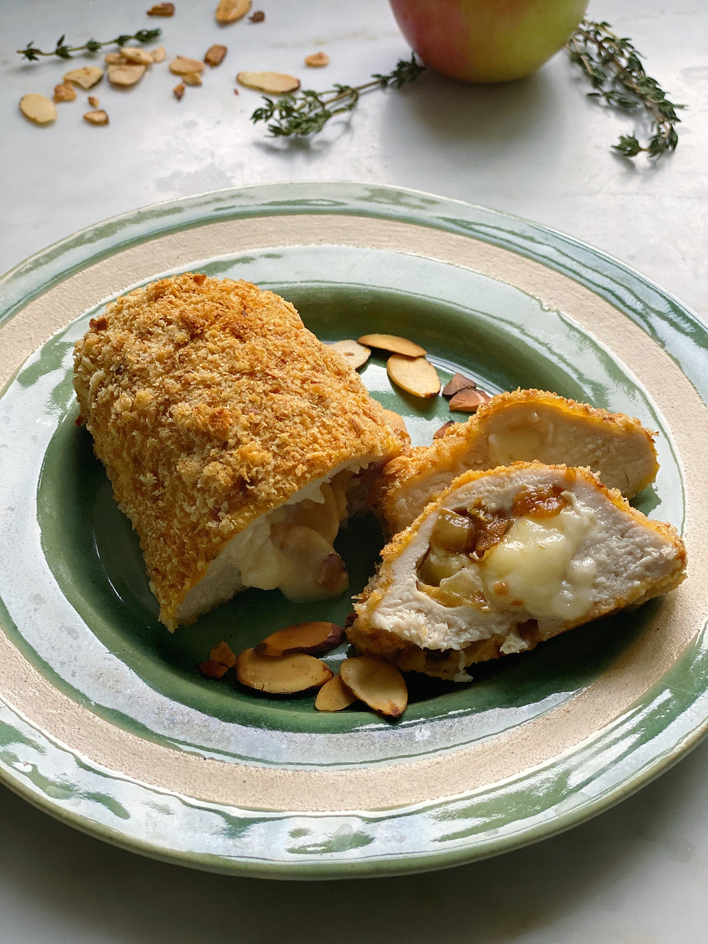 Apple-Almond-Brie Stuffed Chicken Breasts