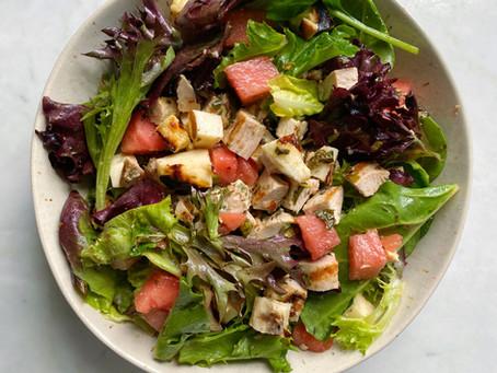 Chimichurri Chicken Salad with Halloumi & Watermelon