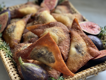 Fig & Goat Cheese Wontons