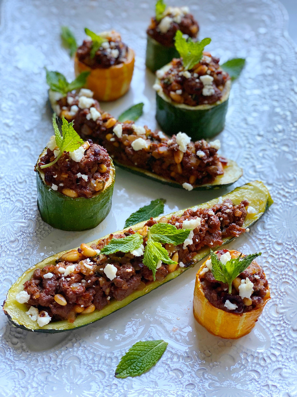 Lamb-Stuffed Summer Squash