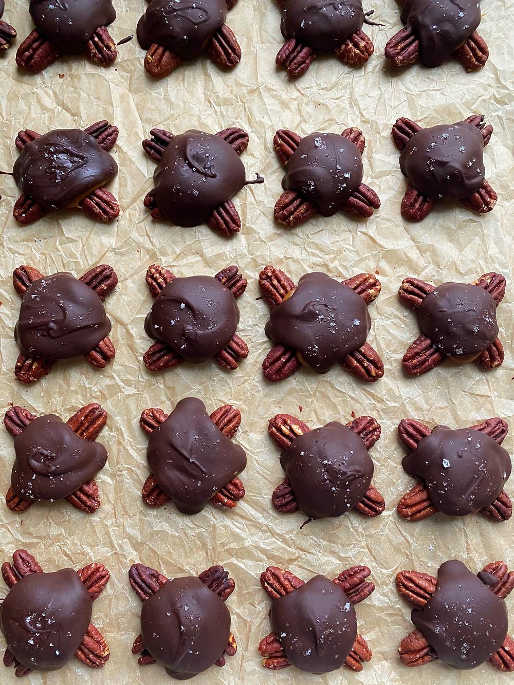 Dark Chocolate Turtles
