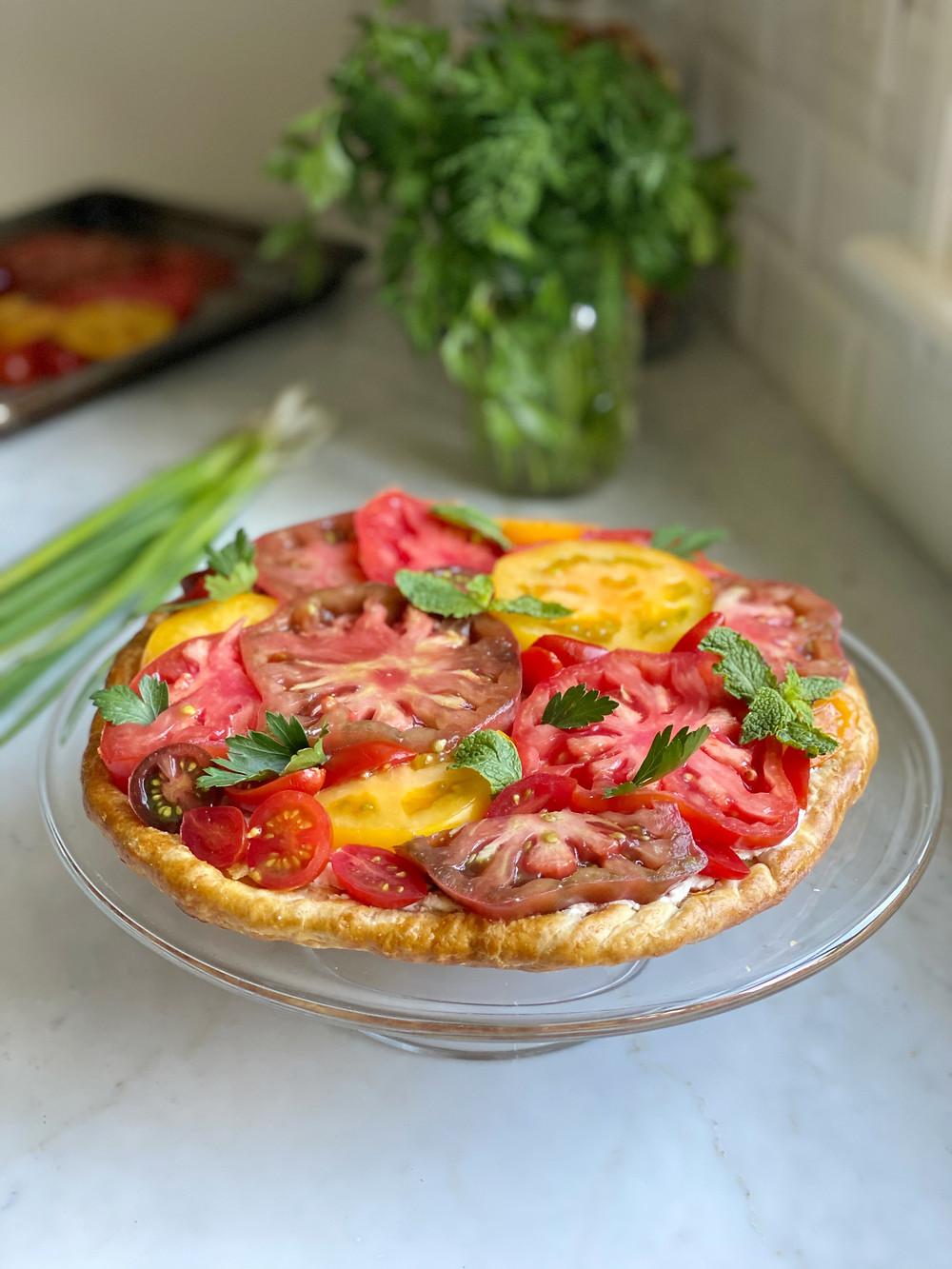 Heirloom Tomato Tart with Fresh Ricotta