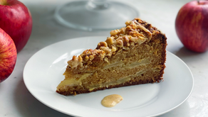 Brown Butter Apple Cake with Brown Butter-Honey Glaze