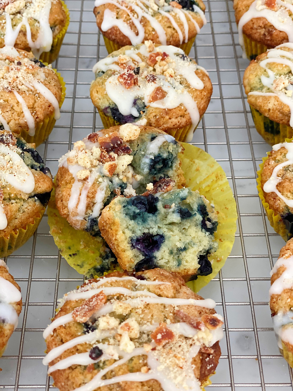 Cherry Lemon Yogurt Muffins