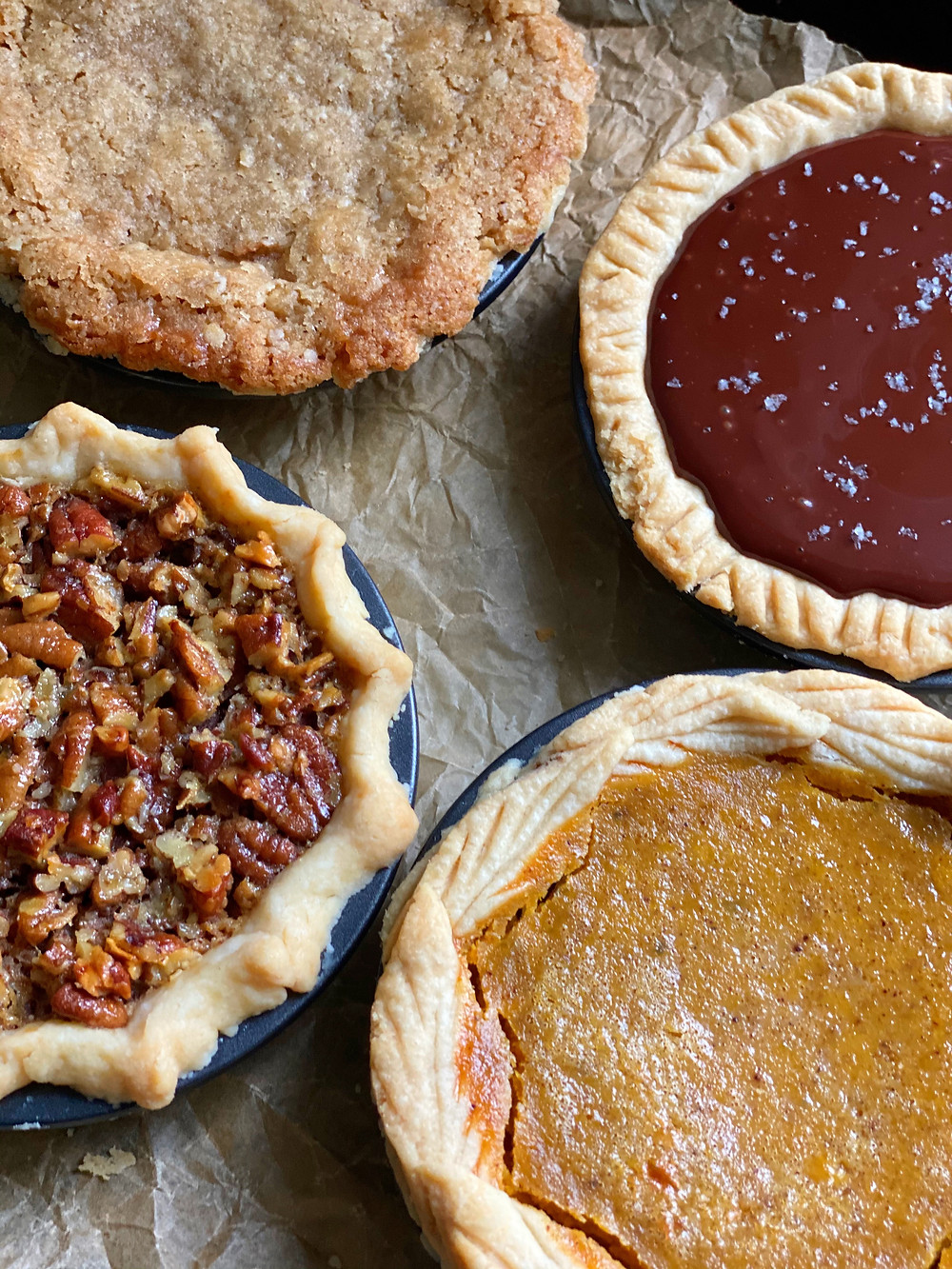 Thanksgiving Mini Pie Quartet