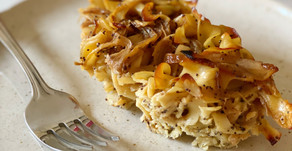 Caramelized Onion & Poppy Seed Kugel