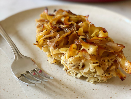 Caramelized Onion & Poppy Seed Kugel