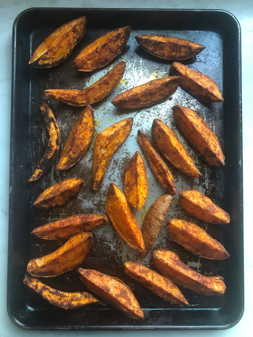 Spiced Sweet Potato Oven Fries