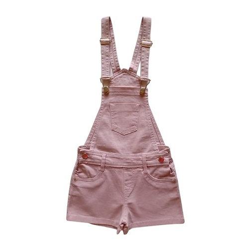 Jardineira Infantil Feminina - Rosa