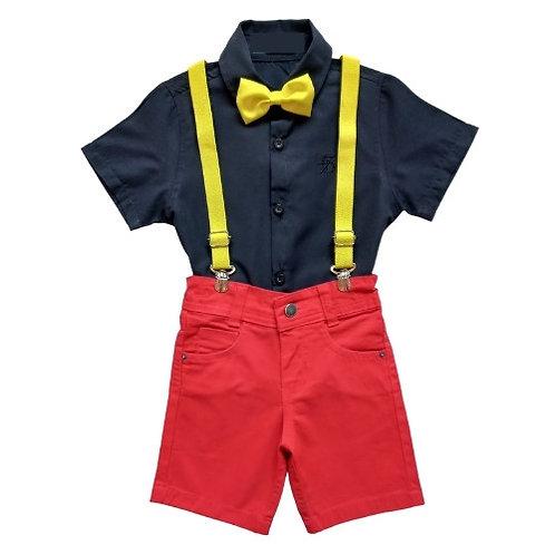 Conjunto Temático Infantil Masculino - Mickey - Festa - Aniversário