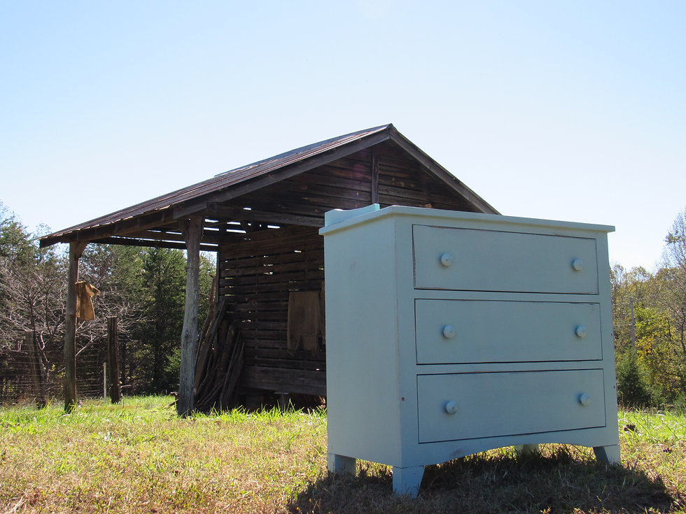 painted cottage chest