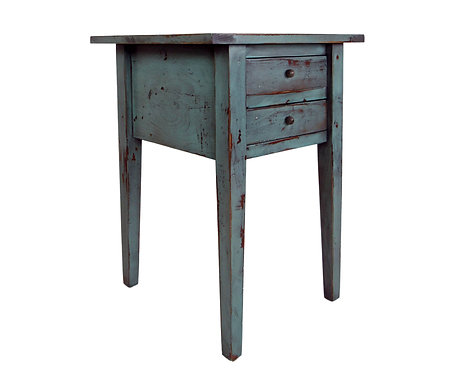 Primitive Shaker Two Drawer End Table
