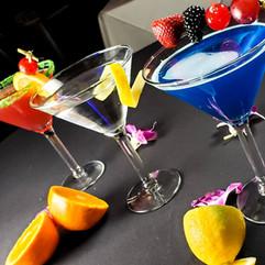 Watermelon Martini, Classic Martini, Blue Cosmopolitan